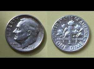 USA 1 Liberty Dime 1956 Silber (18394