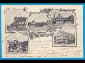 AK Hunspach Soultz-sous-Forêts Fachwerkhäuser 1903 (1201