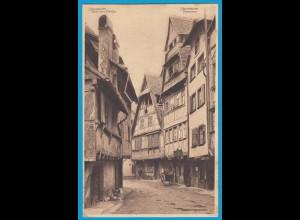 AK Strassburg Pflanzbad Elsass Strassenansicht (1323