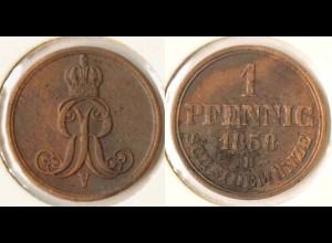 Hannover 1 Pfennig 1858 V Altdeutschland Old German States (n466