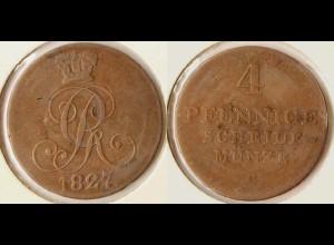 Braunschweig-Calenberg-Hannover 4 Pfennig 1827 Altdeutschland (n474