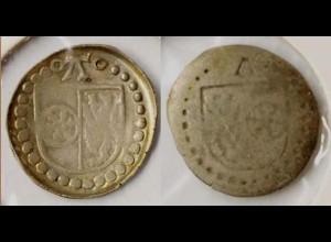 Mainz Erzbistum Albrecht von Brandenburg 1514-1545 Schlüsselpfennig (n494