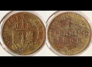 Preussen Prussia 1 Pfennig 1868 B Altdeutschland Old German States (n533