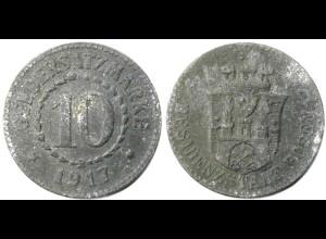 10 Pfg. Notgeld Münze Geldersatz Stadt Posen 1917 (4178