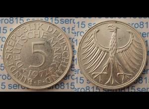 5 DM Silber-Adler Silberadler Münze 1972 F Jäger 387 BRD (p070