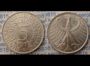 5 DM Silber-Adler Silberadler Münze 1972 G Jäger 387 BRD (p071