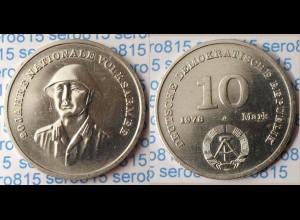 DDR 10 Mark von 1976 - 20 Jahre NVA Nationale Volksarmee (p549