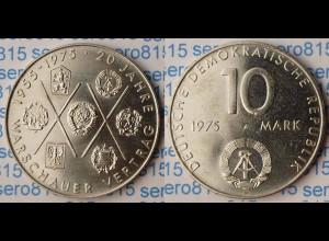 DDR 10 Mark von 1975 - 20 Jahre Warschauer Vertrag (p557