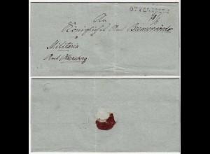 OTTERSBERG - BREMERVÖRDE Doppelverwendung Militaria Umschlag Vorphila (12120