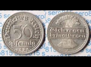 50 Pfennig 1920 J Deutsches Reich Weimar Jäger Nr. 301 (p709