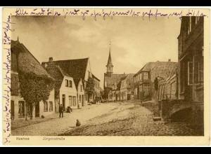 AK Itzehoe Jürgenstrasse 1925 gelaufen n. Lassen/Pommern (2044