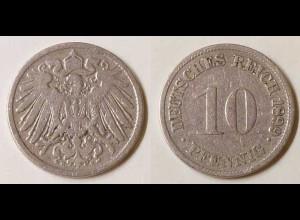 10 Pfg. Kaiserreich EMPIRE 1899 G Jäger 13 s (695