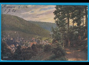 AK WIRO-KUNSTLERKARTE WILDBAD SCHARZWALD 1926 (1684