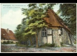 AK Bispingen Alte Heidekirche 13.Jahrh.u.Pastorat (2204