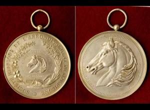 Medaille 1896 Silber Frankreich FRANCE 1ère Classe Niniche Reiter-Wettbewerb