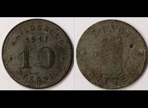 Notgeld Witten 10 Pfennig 1917 Z Funck 604.2b (m851