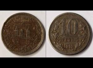 Notgeld Iserlohn 10 Pfennig 1919 Eisen (m877