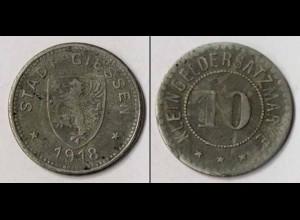 Notgeld Giessen 10 Pfennig 1918 Z (m885