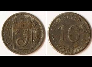 Notgeld Ahlen Westfalen 10 Pfennig Eisen Kriegsgeld 1917 (m919