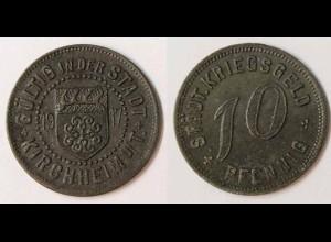 Notgeld Kirchheim u.Teck 10 Pfennig 1917 Z (m924