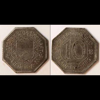 Notgeld Horb Württemberg Amtskörperschaft 10 Pfennig 1918 Eisen (m929