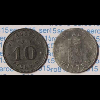 Notgeld Witten 10 Pfennig 1917 Kriegsgeld Z Funck 604.2b (n079