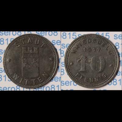 Notgeld Witten 10 Pfennig 1917 Kriegsgeld Z Funck 604.2a (n080