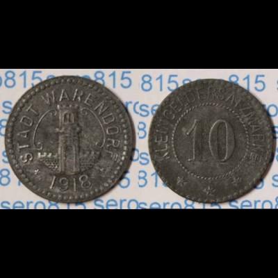 Notgeld Warendorf 10 Pfennig 1918 Z Funck 575.2 (n082