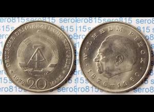 DDR 20 Mark von 1972 Wilhelm Pieck bankfrisch (n197