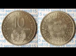 DDR 10 Mark von 1973 Weltjugendfestspiele bankfrisch (n208