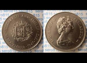 Grossbritannien UK 1972 Silberhochzeit Elizabeth (n304