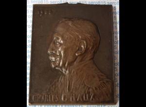 Medaille Bronze-Platte Belgien Charles Graux Freimaurer (n323