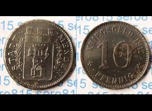 Notgeld Menden 10 Pfennig 1917 Eisen (n342