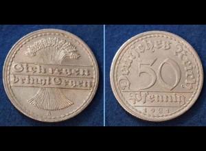 50 Pfennig Weimarer Republik 1921 A Jäger 301 (n376