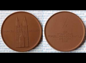 Meissen Porzellan/Steinzeug Medaille 62 mm Dom zu Meissen (n400