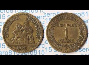 Frankreich France 1 Franc 1923 (p274