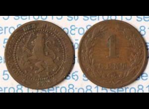 Niederlande Netherlands 1 Cent 1884 (p259