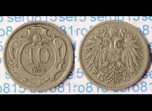 Österreich Austria 10 Heller 1893 (p348