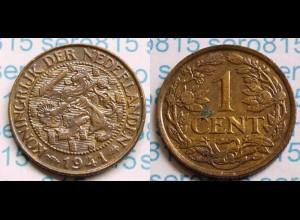 Niederlande NEDERLAND 1 Cent 1941 (m019