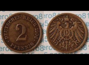 2 Pfennig Kaiserreich Empire 1906 J Jaeger 11 (m290
