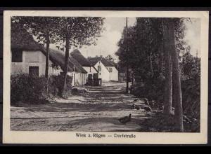 AK Wiek auf Ruegen Dorfstrasse (b051