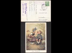 Bessenich über Euskirchen auf Karte Posthilfstelle/Landpost 1957 (12188