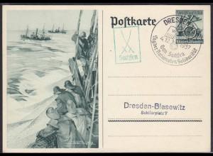 3.Reich Ganzsache SST Gau Sachsen Nationale Solidarität 1937 (11369