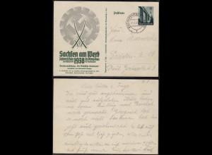 3.Reich Ganzsache Sachsen am Werk 1938 Bischofswerda (11367
