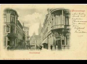 AK Niederlande NEDERLAND s´Gravenhage Gravenstraat 1902 (1360