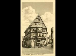 AK Miltenberg Main Hotel zum Riesen Bahnpost 1918 (1652