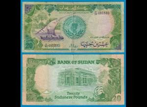 Sudan - 20 Pounds Banknote 1987 Pick 42a F (18603