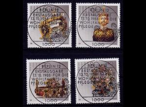 Bundesrepublik 1988 Vollstempel ESST 1383-86 (b144