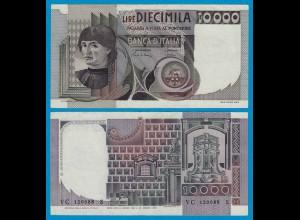 ITALIEN - ITALY 10000 10.000 Lire Banknote 1984 VF Pick 106c !! (18622