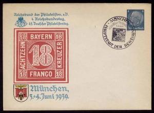 Drittes Reich WW2 1939 Privat-Ganzsache m.SST (b149